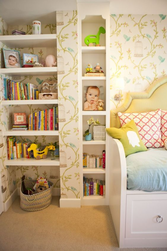 Love the storage in this transitional nursery! #nursery #storage #organization