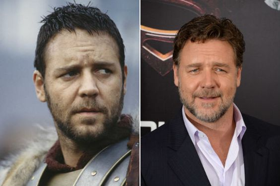Russell Crowe...see the cast of Gladiator then and now-Russell Crowe, Maximus Decimus Meridius