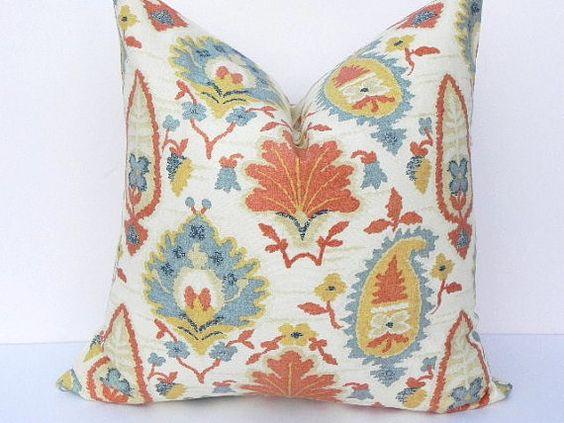 Ikat 20X20 Pillow Cover Designer Home Decor Fabric Throw Pillow Accent  Pillow Living