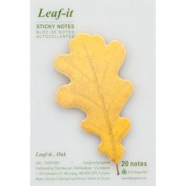 Leaf-it Oak - Yellow  nature inspired sticky notes for home and office use