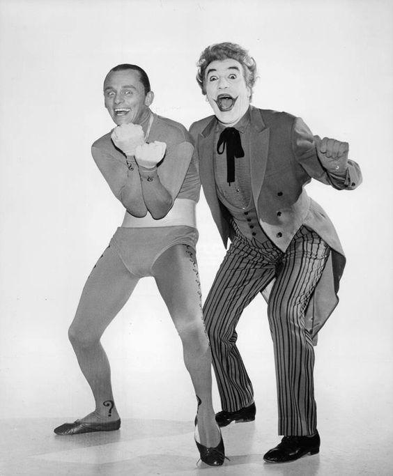 The Riddler (Frank Gorshin) And The Joker (Cesar Romero