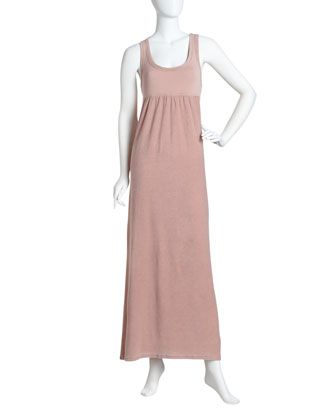 Racerback Terry Maxi Dress, Camelia by James Perse at Last Call by Neiman Marcus.