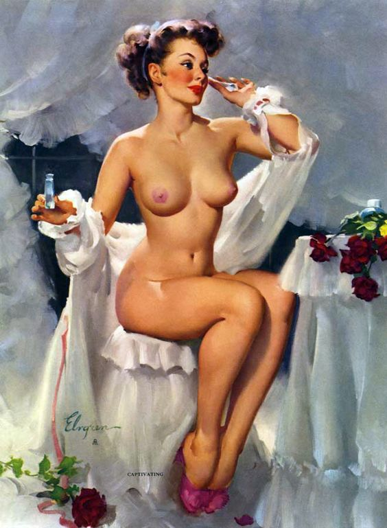 "Gil Elvgren - ""Captivating"" 1962 [421]:"