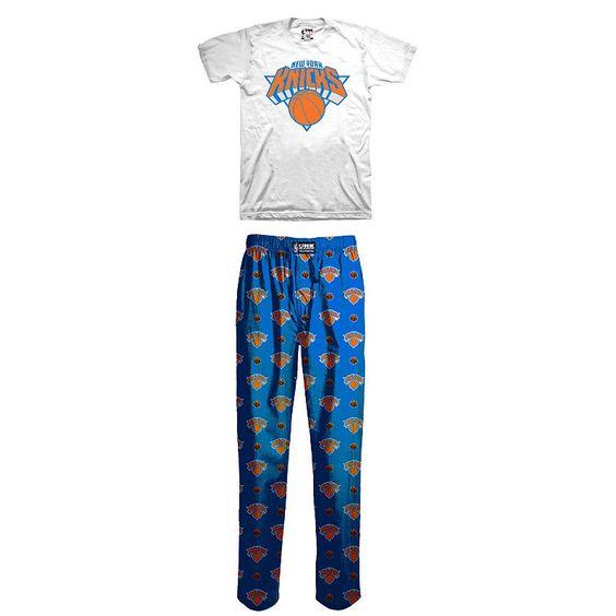 Boys 4-12 New York Knicks Loungewear Set, Boy's, Size: Small, Blue Other