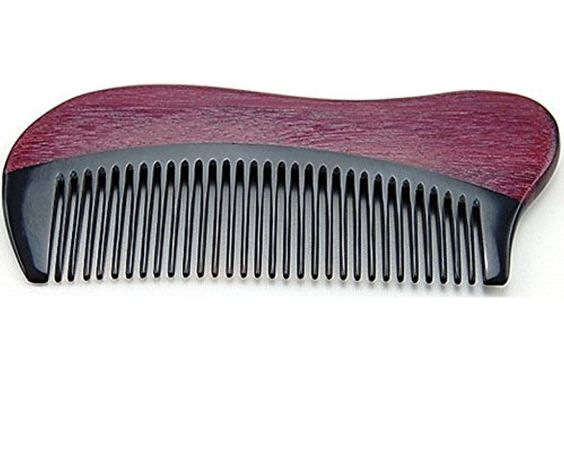 Anti Static Natural Buffalo Horn & Purpleheart Wood Comb, Pocket Horn Comb 5 by Joyo Comb -- Awesome products selected by Anna Churchill