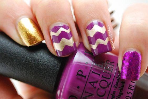 70 Uñas color Púrpura – Purple nails
