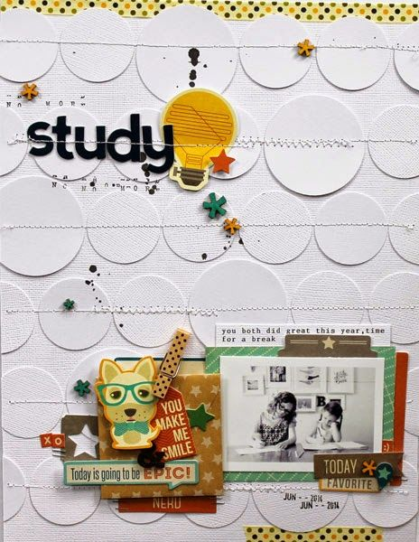 Love the stitched circles in the background Study with Jillibean Soup: