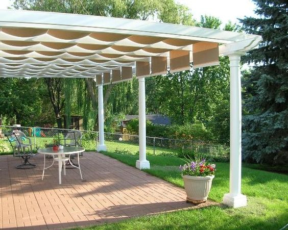Pergolas canopies and pergola with canopy on pinterest - Shade canopy for deck ...
