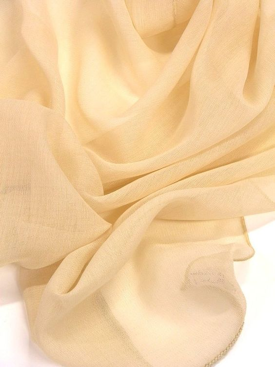 Ecru sheer curtains fabric 118 inches wide drop by Eleptolis, $20.00