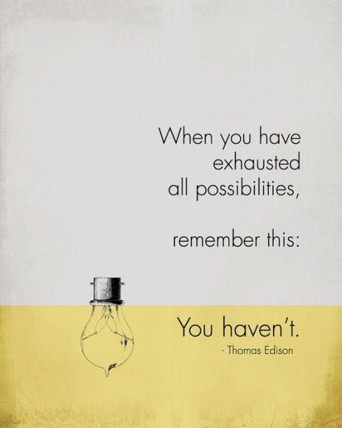 Thomas Edison, Inspirational Quote Poster, MOTIVATIONAL Art, grey yellow scheme…