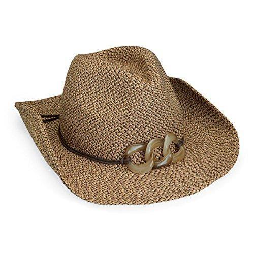 Wallaroo Women S Sierra Sun Hat Paper Braid Cowboy Hat Upf50 Brown Combo In 2021 Cowboy Hats Straw Cowboy Hat Sun Hats