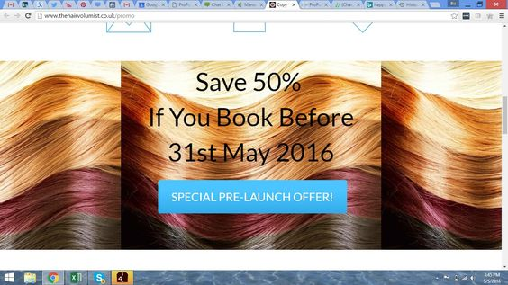 Here is a special pre-launch offer for you! Book your appointment by 31st May 2016! https://www.facebook.com/thehairvolumist/
