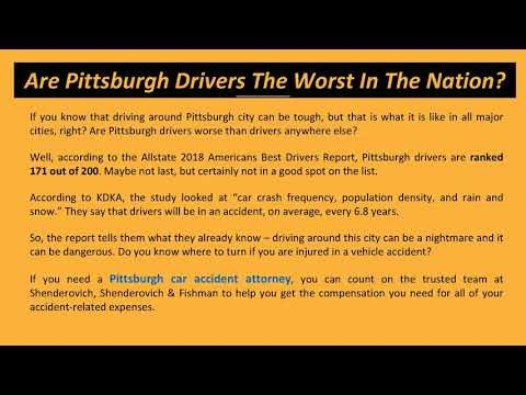 Are Pittsburgh Drivers The Worst In The Nation Bad Drivers Knowing You National