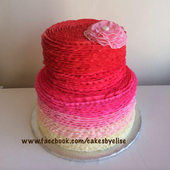 Baby shower cake. Baby girl baby shower. www.facebook.com/cakesbyelise