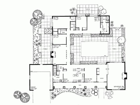 Eplans ranch house plan courtyard classic 3110 square for Eplans floor plans