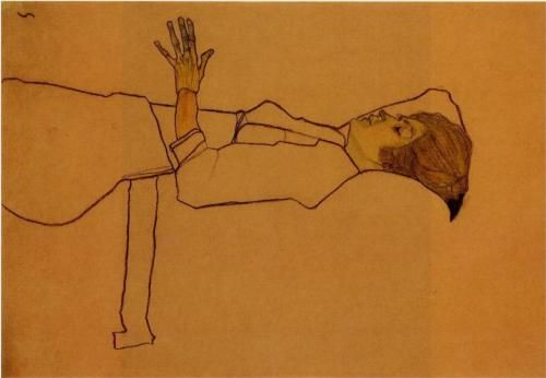 Egon Schiele, Clothed Woman Reclining, 1910