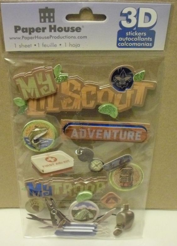 PAPER HOUSE 3D MY LIL SCOUT STICKERS NEW #PaperHouse