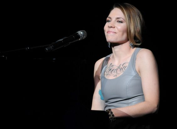 She's breaking through and showing off. Honoree Skylar Grey displays some ink during a performance at the Variety Breakthrough of the Year Awards on Jan. 9 in Las Vegas