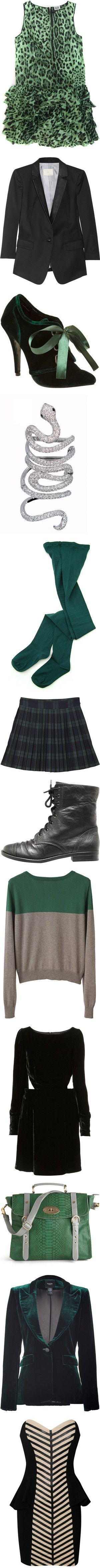 """""""A Slytherin's Closet"""" by youremycupoftea ❤ liked on Polyvore"""