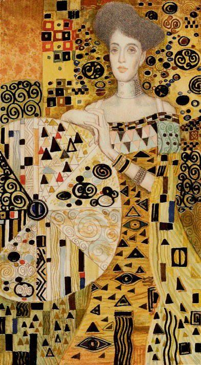 Golden Tarot of Klimt - The Wheel of Fortune