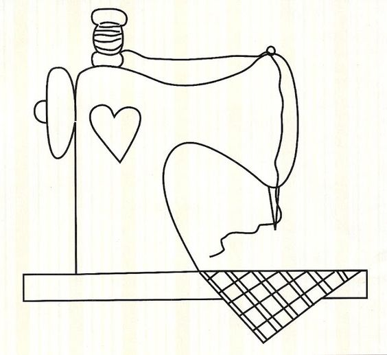Sewing machine Applique pattern: