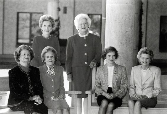 First Ladies. There's so much grace in this photo.