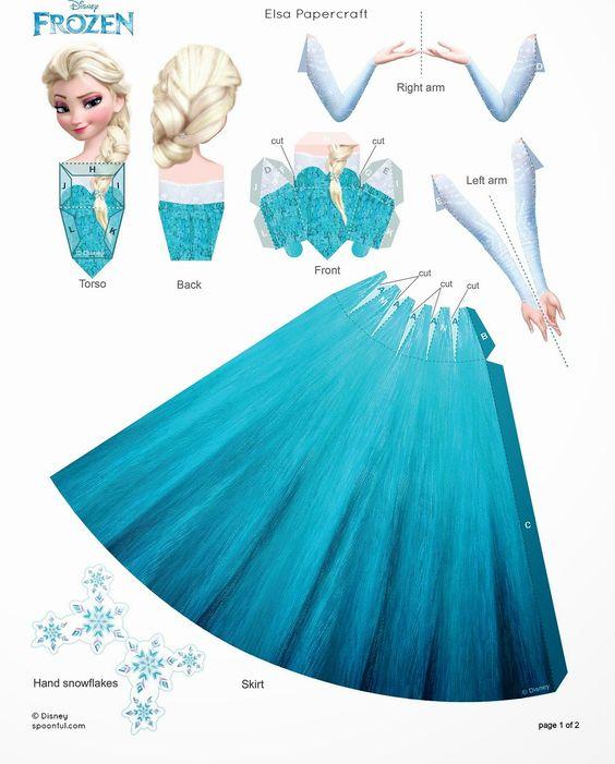 Frozen: Muñecas 3D de Papel para Imprimir Gratis. | Ideas y material gratis para fiestas y celebraciones Oh My Fiesta!