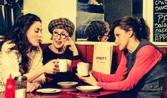The Baker Street Babes, Una Stubbs (Mrs. Hudson, Louise Brealey (Molly Hooper) and Lara Pulver (Irene Adler)