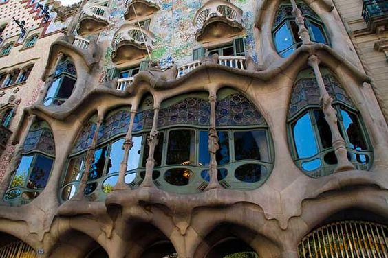 Barcelona. Casa Batlló. Samantha Brown: While it looks like something out of a weird SciFi movie, the Casa Batlló shows Gaudí at his finest. I marvel at the detail in the skeleton windows and terraces and find the dragon legend to be pretty captivating. The roof is thought to illustrate the dragon's back. This is one of only a few houses by Gaudí that can be toured in Barcelona. A morning visit will help you avoid the bigger crowds and they do sell tickets online if you want to save time.