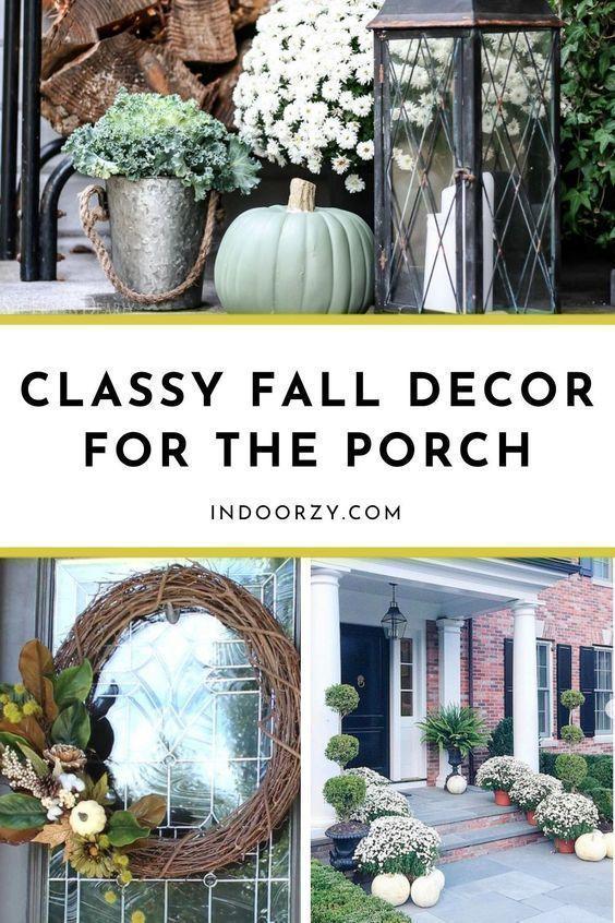 Affordable Classy Fall Porch Decor Mums Diy Wreaths Etc Fall Decorating Idea Fall Decorations Porch Small Front Porch Fall Decor Fall Front Porch Decor