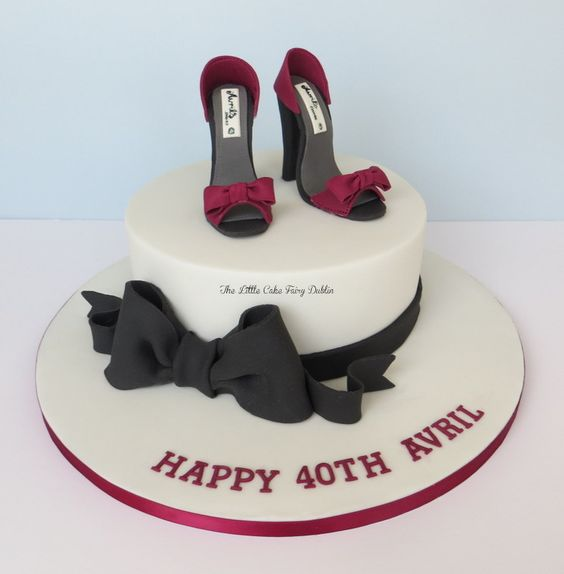 Elegant Shoe Birthday Cakes