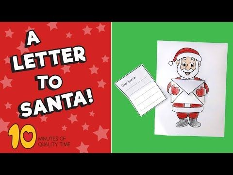 Letter To Santa Craft 10 Minutes Of Quality Time Santa Letter Printable Santa Crafts Santa Letter