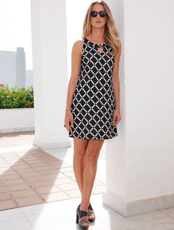 B&W dress Spring Summer 2015