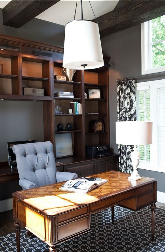 Study Room Color Ideas: Paint Color Benjamin Moore Kendall Charcoal. Must Have