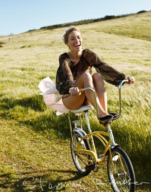 Bike ride through fields - what a joy!