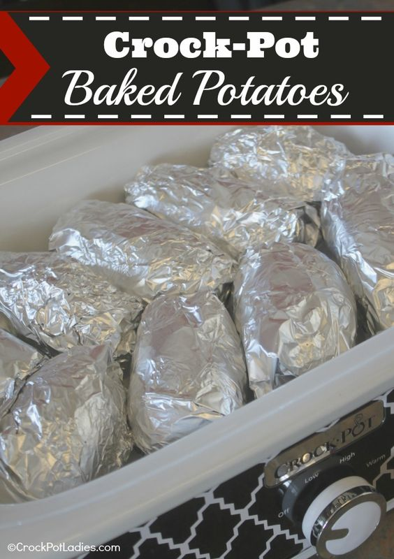 Crock-Pot Baked Potatoes | CrockPotLadies.com - This recipe is so stinkin' easy you are going to want to try it today!