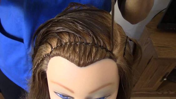 Trenza Cordon Chino con Tejido para Niña - Chinese Cord Braid for Girls