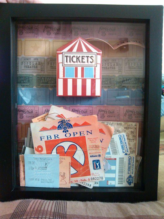 ticket frame I made!