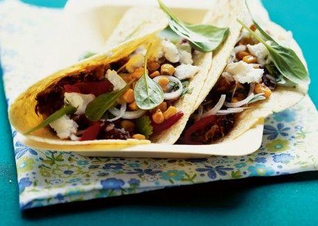 Black Bean & Toasted Corn Tacos   Vegetarian Times