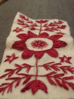 swedish redwork embroidery