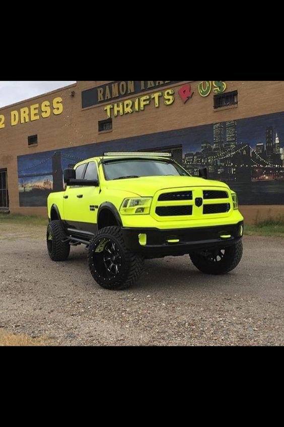 Talk about a Dodge Cummins that stands out!!! #epicneon
