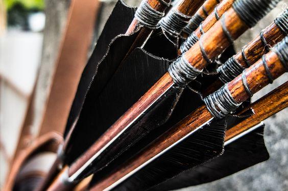 Handmade arrows with hi-end turkey feathers, by Fischer Workshops fischerworkshops.com