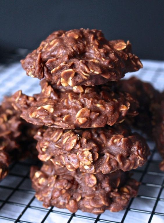 Chocolate Peanut Butter No-Bakes. The poster calls it a cookie, so I guess I will too, but it's pretty close to candy.