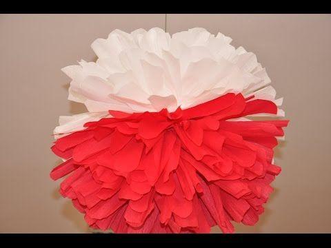 Majowe Dekoracje Pompony Diy Youtube Paper Lamp Novelty Lamp Table Lamp