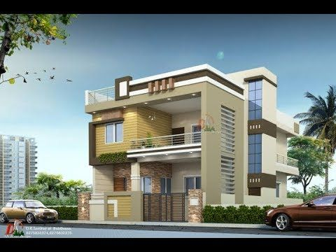 2 Story House Plan 1st Floor Rent Purpose With Front Design And Small W House Paint Design Duplex House Design Bungalow House Design