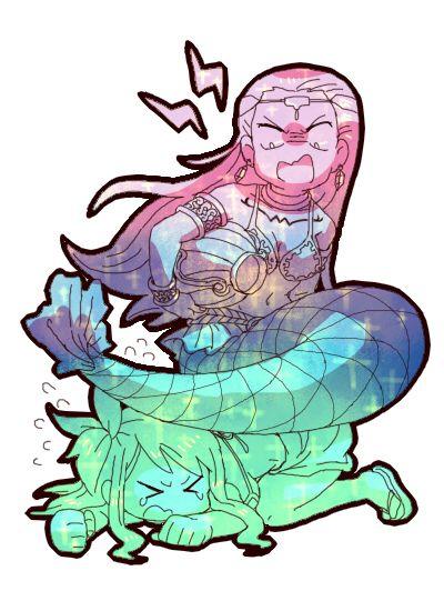 Lucy & Aquarius. Aquarius tiene una actitud muy de los reales acuarios... ;)