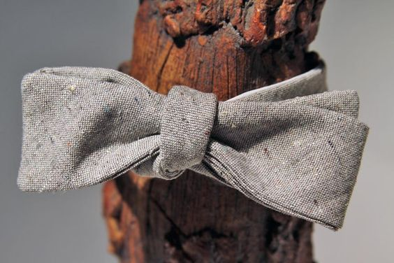 Brave GentleMan Gray Narrow Bow Tie