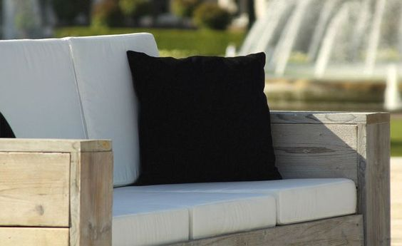 Lounge 3er Sofa » WITTEKIND Gartenmöbel » Holz Gartenmöbel