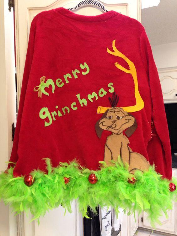 Back of the Grinch Ugly Christmas sweater Nicole Weekley ...