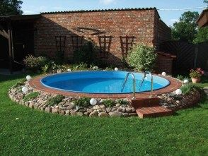 36 Amazing Ground Pool Landscaping Ideas Above Ground Pool